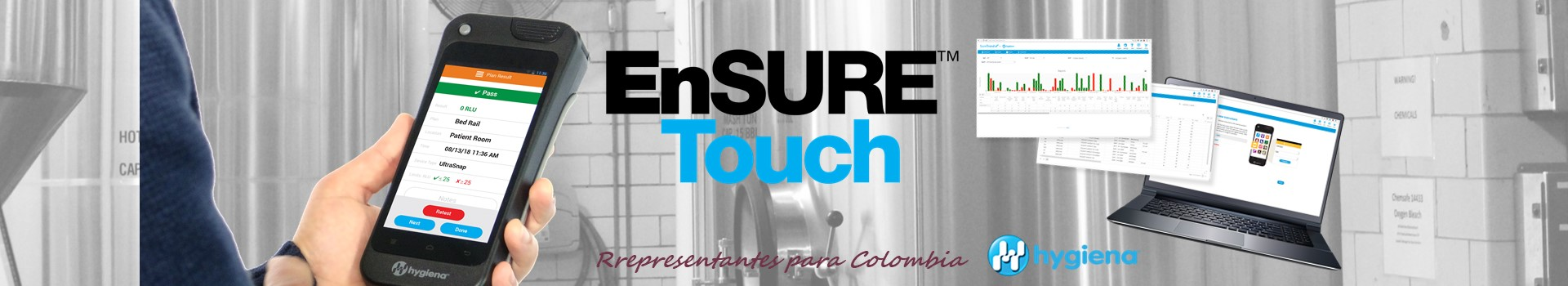 LUMINOMETRIA ENSURE TOUCH HYGIENA COLOMBIA MIURAS