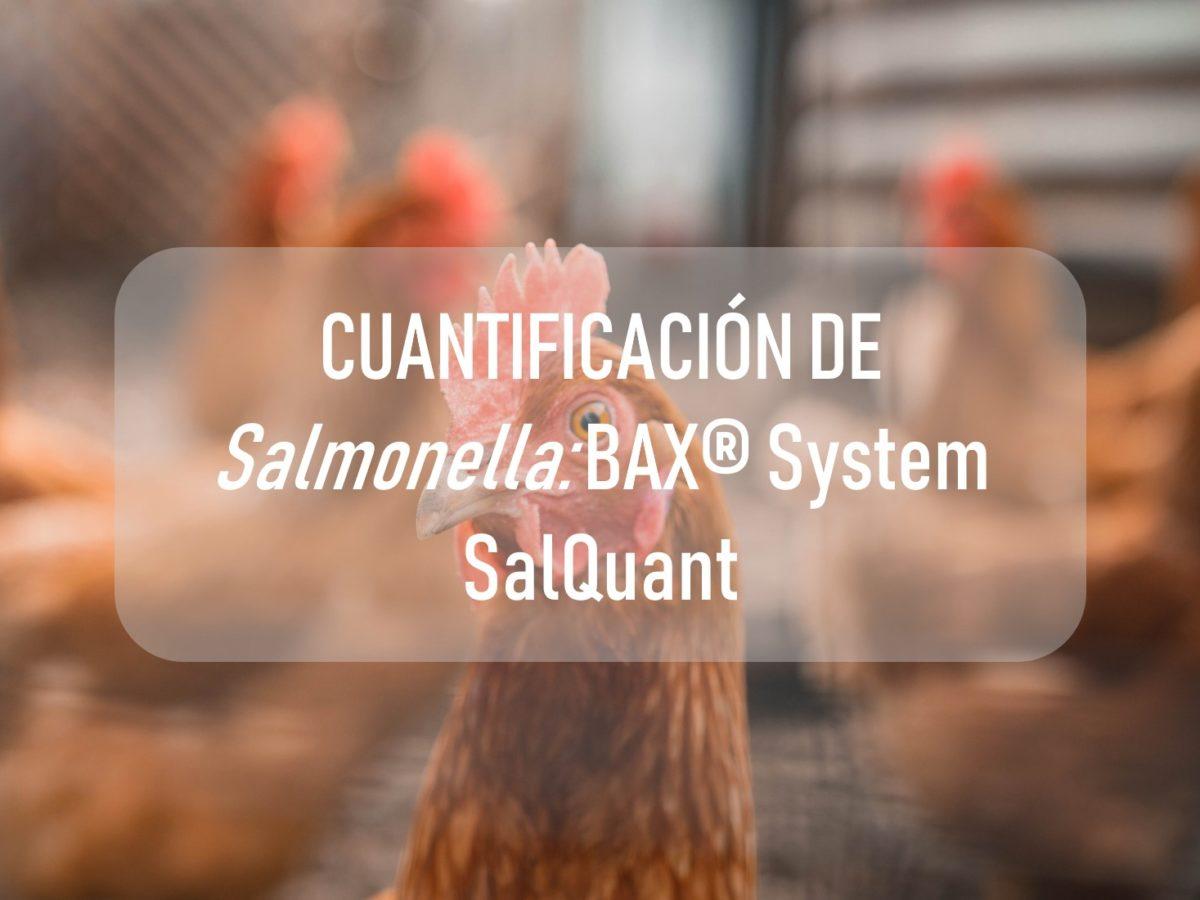 CUANTIFICACIÓN DE <i>Salmonella</i>: BAX® System SalQuant