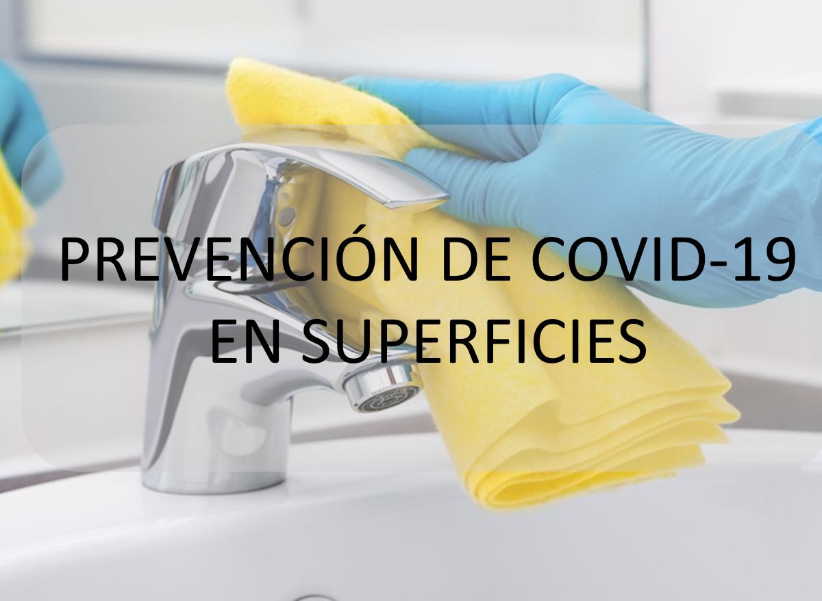 Prevención de COVID-19 en superficies