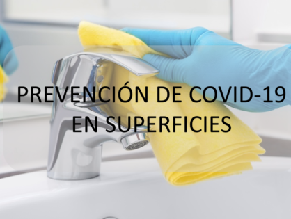 Prevención de COVID-19 en superficies